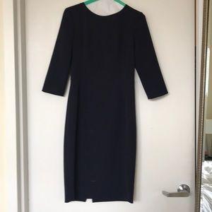 Zara 3/4 sleeve knee length dress with open back